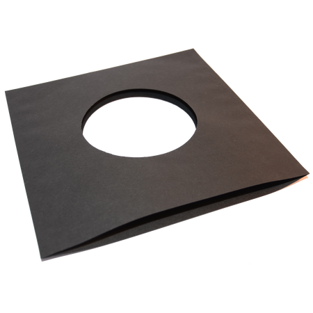 1000x Single 7 Record Sleeves Paper Black