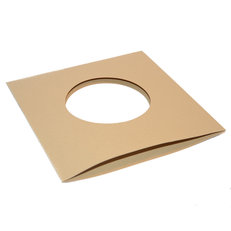 7 Paperbag brown with centerhole unprinted