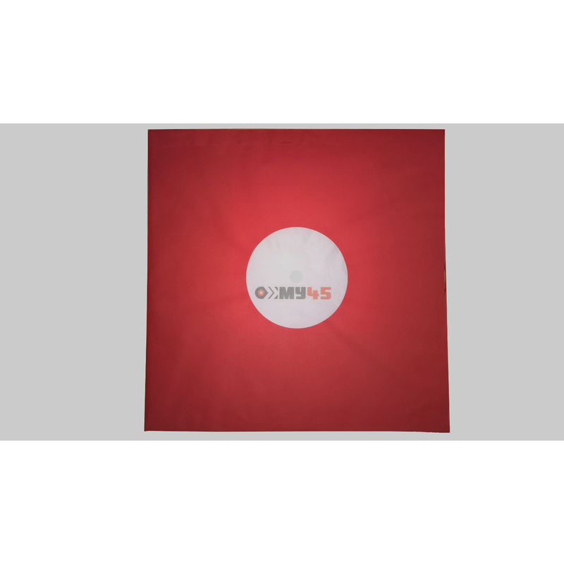 12 red poly-lined paper inner-sleeve 80 g/m² with center sight holes