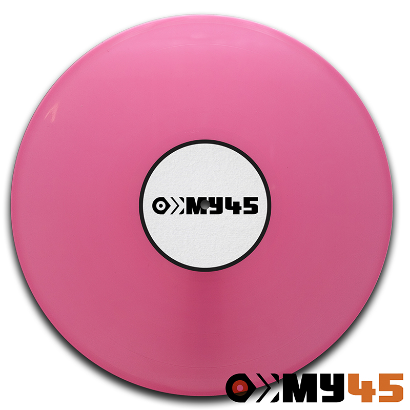 12 Vinyl rosa opaque (marbled mixture of red and white)